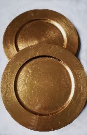 Gold Charger Plates £1.50 each